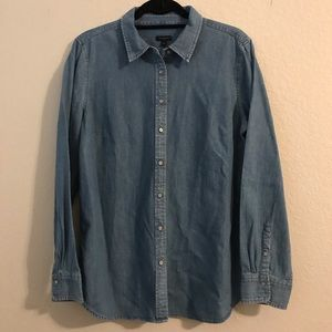 Talbots Button Down Denim Shirt
